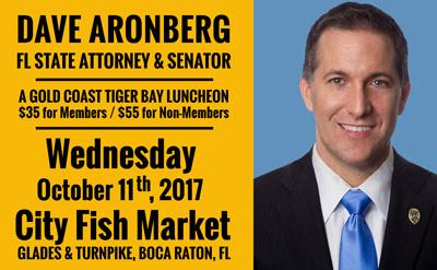 Dave aronberg florida state attorney and senator speaks for City fish market boca raton