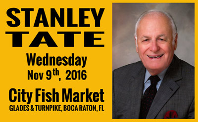 The day after election day an introspection with stanley for City fish market boca